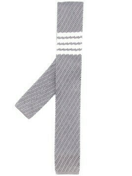 Thom Browne 4-bar silk tie - Grey