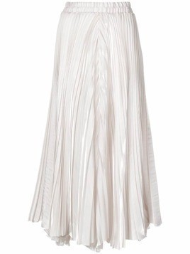 Dusan cropped pleated trousers - White