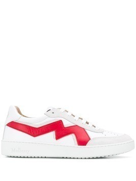 Mulberry Hyde lace-up sneakers - White