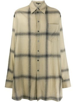 Ann Demeulemeester oversized check-patterned shirt - NEUTRALS