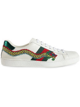 Gucci - Dragon Ace embroidered leather sneaker - Herren - Leather/rubber - 5.5 - White