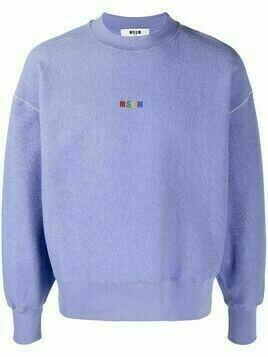 MSGM logo-embroidered sweatshirt - PURPLE