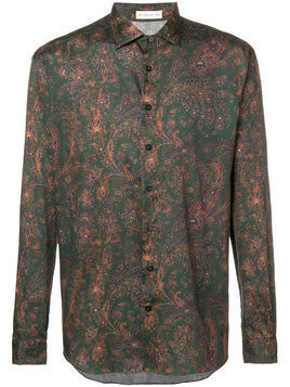 Etro printed button shirt - Green