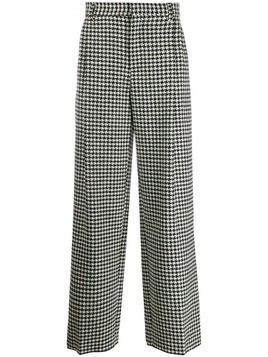 Loewe houndstooth straight trousers - Black
