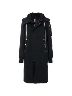 Rick Owens DRKSHDW hooded boxy coat - Black