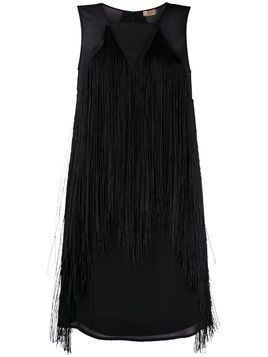 LIU JO fringed short dress - Black