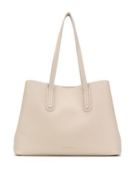 Coccinelle top-handle tote bag - NEUTRALS