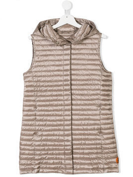 Save The Duck Kids TEEN padded gilet - Nude & Neutrals