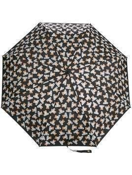 Moschino teddybear logo printed umbrella - Black