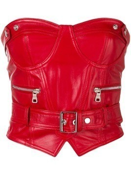 Manokhi belted biker corset - Red