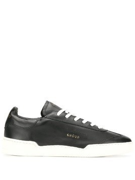 Ghoud contrasting sole lace-up sneakers - Black