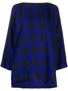 Daniela Gregis check tunic top - Blue