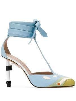 LANVIN Parrot Salomé pumps - Blue