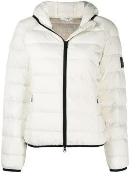 Ecoalf zipped hooded jacket - White