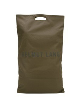 Helmut Lang Pre-Owned oversized logo tote - Green
