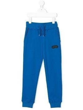 Ai Riders On The Storm Kids drawstring track trousers - Blue