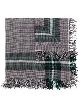 Burberry fringed check scarf - Pink & Purple