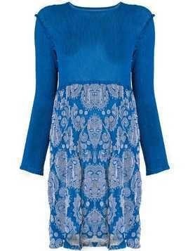 Issey Miyake Cauliflower botanical print dress - Blue