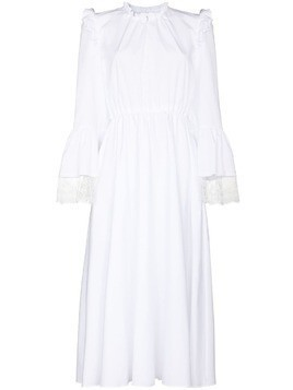 Giambattista Valli lace trim cotton midi dress - White