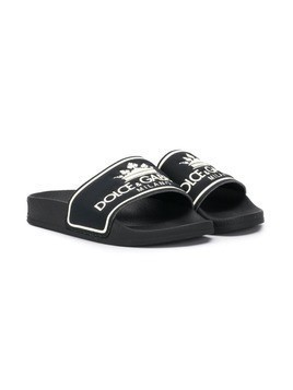 Dolce & Gabbana Kids logo sliders - Black