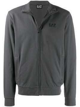 Ea7 Emporio Armani zip-up logo jacket - Grey