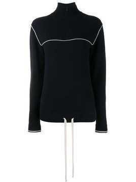 Chloé cashmere zipped collar jumper - Blue