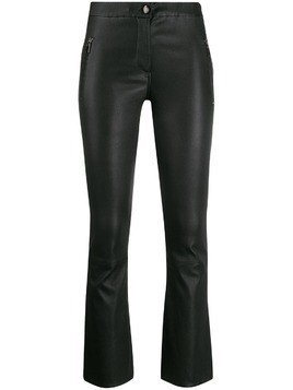 Arma cropped kick flare trousers - Black