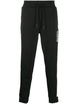 BOSS logo print track pants - Black