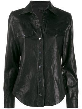 Pinko faux-leather shirt - Black