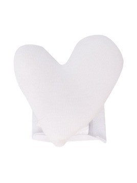 Douuod Kids heart-shaped brooch - White