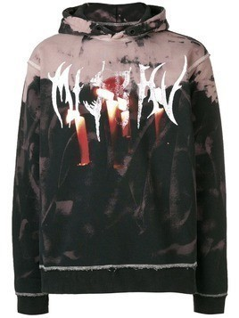 Misbhv destroyed graphic hoodie - Black