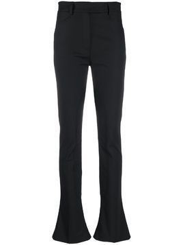 Ssheena slim-fit flared hem trousers - Black