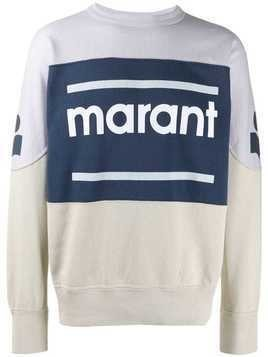 Isabel Marant Gallianh logo print sweater - Neutrals