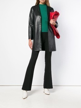 Blanca mid rise flared trousers - Black