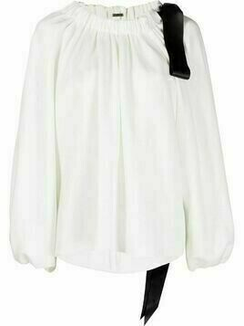 Adam Lippes off-shoulder ribbon blouse - White