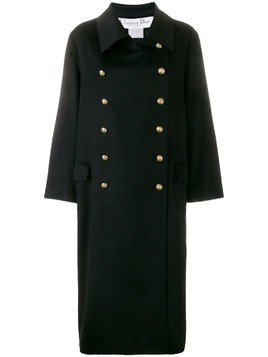 Christian Dior Pre-Owned cashmere double-breasted coat - Black