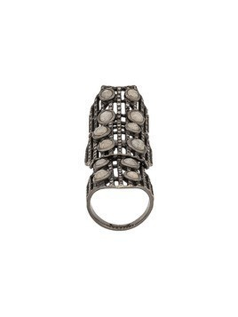 Loree Rodkin embellished armour ring - Black Gold