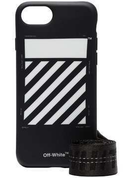 Off-White black and white diag iPhone 8 case