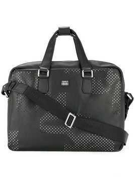 Cerruti 1881 punch hole detailed briefcase - Black