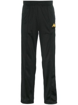 Charm's x Kappa logo embroidered and side panel sweatpants - Black
