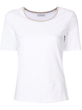 Le Tricot Perugia classic fitted T-shirt - White