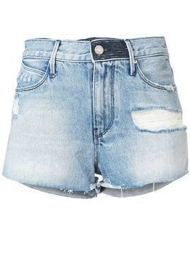 Rta Ace high-waisted denim shorts - Blue