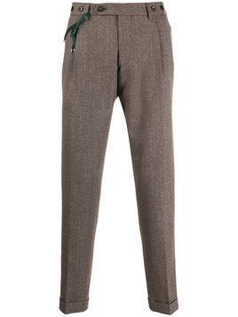 Berwich straight-leg tailored trousers - Brown