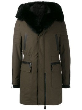 Philipp Plein contrast parka coat - Grey