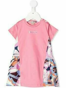 Emilio Pucci Junior panelled T-shirt dress - Pink