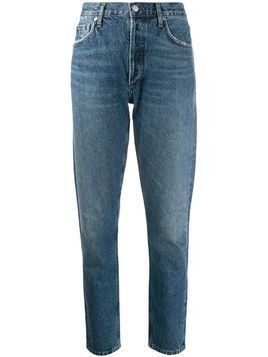 Agolde Jamie straight organic cotton jeans - Blue