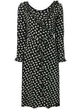Alexa Chung floral print wrap dress - Black