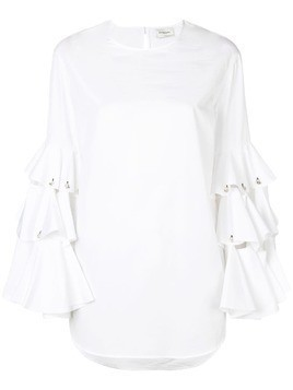 Monographie tiered sleeve tunic - White