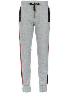 Andrea Bogosian panelled track trousers - Grey
