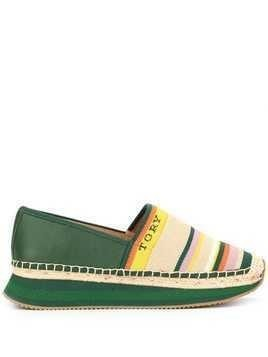 Tory Burch woven striped espadrilles - Green